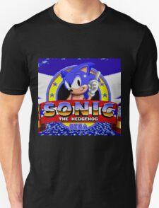 sonic sega logo Unisex T-Shirt