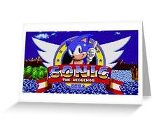 sonic sega logo Greeting Card