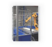 Industrial robotic arm in a factory Spiral Notebook