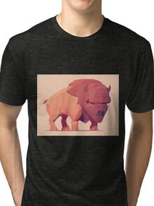Low Poly Buffalo Tri-blend T-Shirt