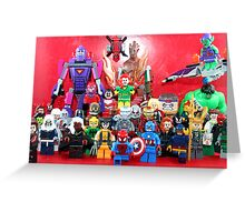 Lego Super Heroes Greeting Card