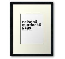 Nelson & Murdock & Page Framed Print
