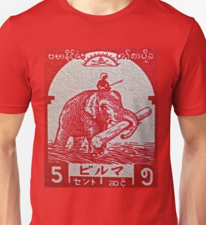 """1943 Japanese Occupation of Burma Stamp"" Unisex T-Shirt"