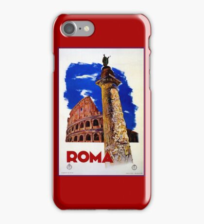 Vintage Roma Rome Italian travel iPhone Case/Skin