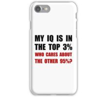 My IQ Who Cares iPhone Case/Skin