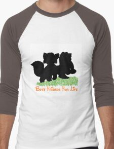 Best Friends Fur Life - Todd and Copper Men's Baseball ¾ T-Shirt
