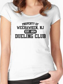 Property of Weehawken NJ Dueling Club Women's Fitted Scoop T-Shirt