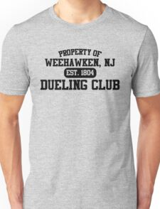 Property of Weehawken NJ Dueling Club Unisex T-Shirt