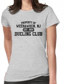 Property of Weehawken NJ Dueling Club Womens Fitted T-Shirt