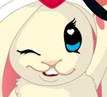 Cute cartoon Funny Bunny with topper Sticker