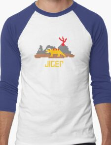 Jiger Pixel Men's Baseball ¾ T-Shirt