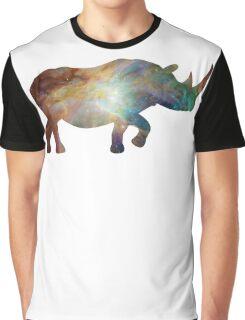Happy Space Rhino Graphic T-Shirt