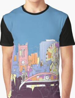Manchester City Skyline by Arty Margit Graphic T-Shirt