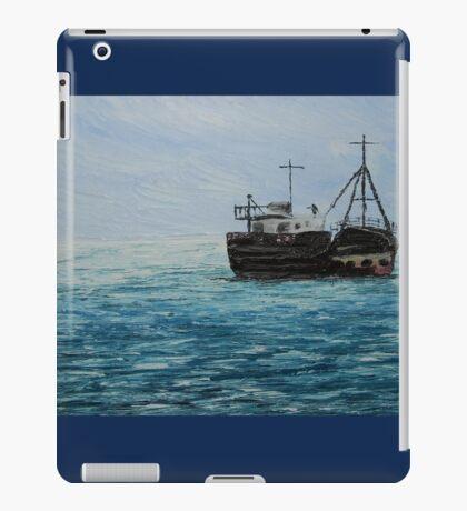 Blue Seascape (Oil Painting) iPad Case/Skin