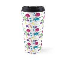 Invaders and Defenders in colour Travel Mug