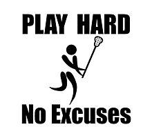 Lacrosse Play Hard Photographic Print