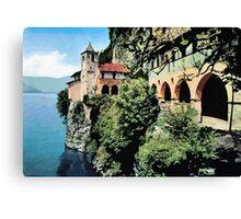Santa Caterina del Sasso Lake Maggiore Canvas Print