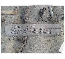 Driftwood haiku Poster