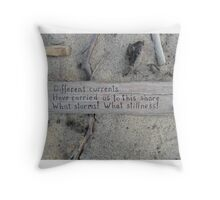 Driftwood haiku Throw Pillow