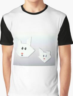 Two Cute Rabbits Graphic T-Shirt