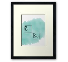 Breaking bad basic Logo Framed Print