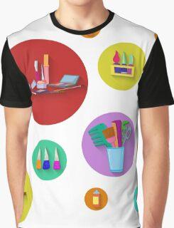 Flat design. Beauty salon spa.Flat design spa round icon set. Graphic T-Shirt