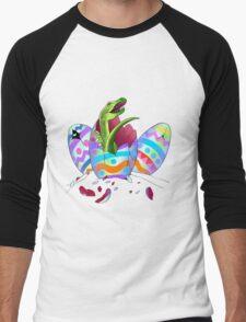 Raptor Easter Eggs Men's Baseball ¾ T-Shirt