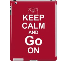 KEEP CALM AND Go ON - White on Red Design for Go Programmers iPad Case/Skin