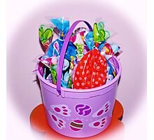 Easter Bucket Treats Photographic Print