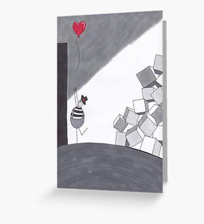 Ballon, Herz, Liebe Greeting Card