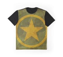 Khaki texture with star Graphic T-Shirt
