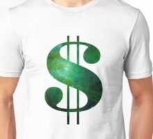 Green Space Dollar Sign Unisex T-Shirt