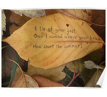 Leaf haiku Poster