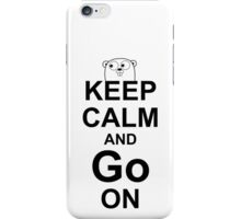 KEEP CALM AND Go ON - Black on White Design for Go Programmers iPhone Case/Skin