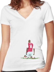 Thierry Henry at White Hart Lane Women's Fitted V-Neck T-Shirt