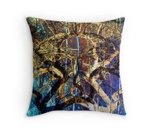 The mysterious face of nature Throw Pillow