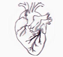 Wobbled Anatomical Heart One Piece - Short Sleeve