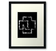 MADE IN GERMANY - distressed white Framed Print
