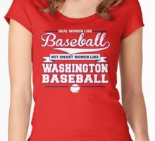 Smart Women Love Washington Baseball Women's Fitted Scoop T-Shirt