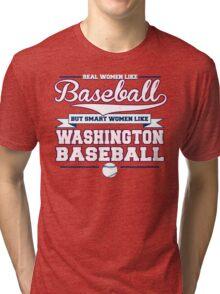 Smart Women Love Washington Baseball Tri-blend T-Shirt