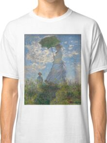 Monet - Woman with a Parasol (1875) Classic T-Shirt