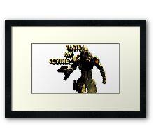 Reaper Scythe Framed Print
