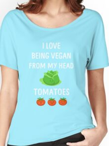 I Love Being Vegan Funny Veganism Women's Relaxed Fit T-Shirt