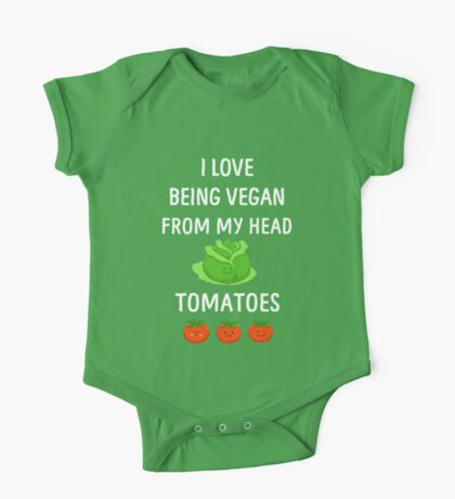 I Love Being Vegan Funny Veganism One Piece - Short Sleeve