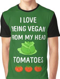 I Love Being Vegan Funny Veganism Graphic T-Shirt