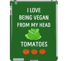 I Love Being Vegan Funny Veganism iPad Case/Skin