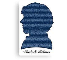 Sherlock Quotes Canvas Print