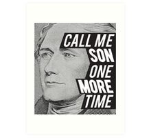 Hamilton -One More Time Art Print