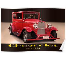 1927 Chevrolet Sedan 'USA' Poster