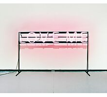 The 1975 // Love Me Neon Sign Design Photographic Print